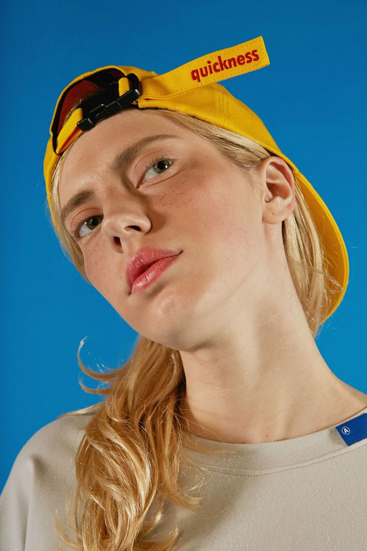 Post cap yellow  #ader#cap#signature#color#detail