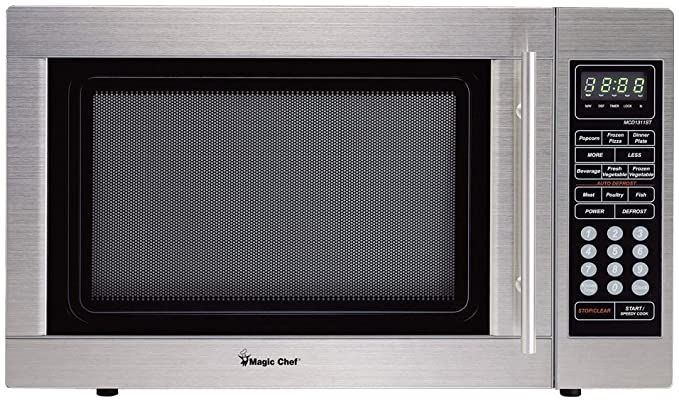 Magic Chef Mcd1311st 1 3cf 1000w S Steel Microwave Magic Chef Countertop Microwave Stainless Steel Microwave