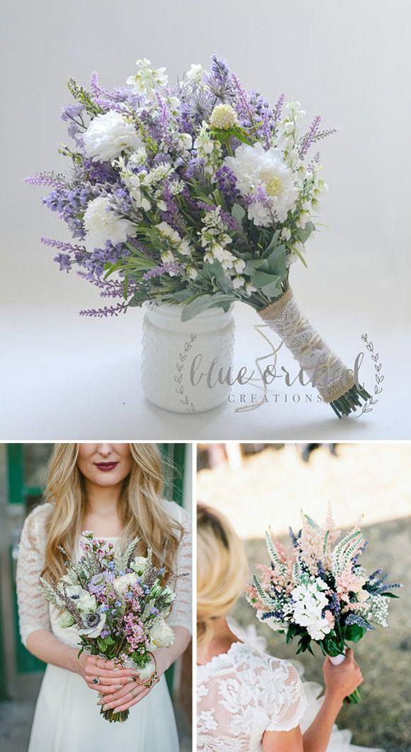 Ramos de novia realizados con flores silvestres