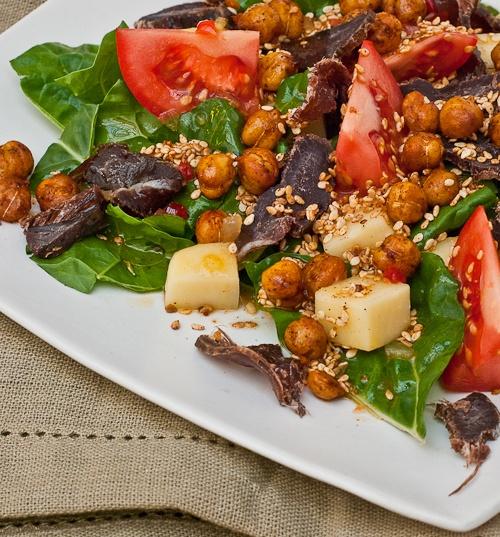 R Salad Biltong Roasted Chickpeas Etc The Purple