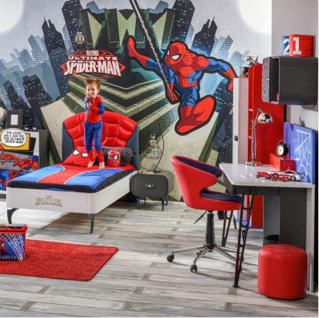 Een complete #Spiderman #kinderkamer? Een eitje, met de #Spiderman 4-delige #slaapkamerset!