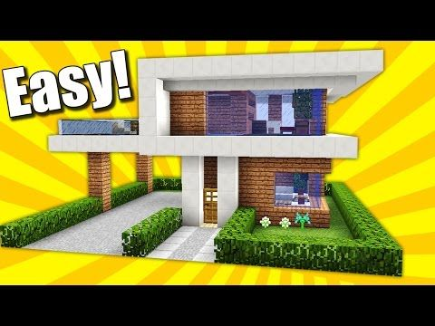 Minecraft: Simple & Easy Modern House / Mansion Tutorial / How to Build #10 + Interior - YouTube