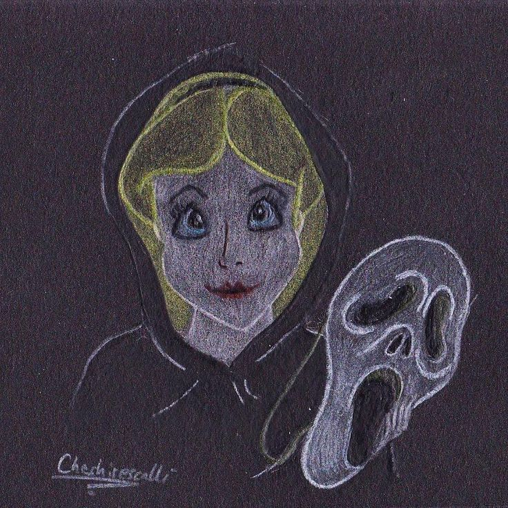 Alice as Ghostface #oktober5 #october #oktober #halloween #halloweencostume #halloweenkostüm #costume #kostüm #Disney #disneyheroine #alice #aliceinwonderland #aliceimwunderland #ghostface #scream #sketch #scallissketches #doodle #drawing #instaart #drawlloween
