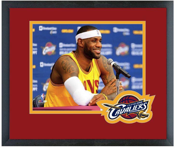 LeBron James 2014 Cavs Press Conference - 11 x 14 Team Logo Matted/Framed Photo