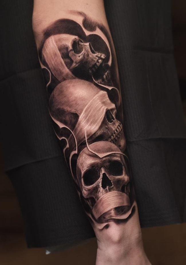 Kleine Schädel Tattoo