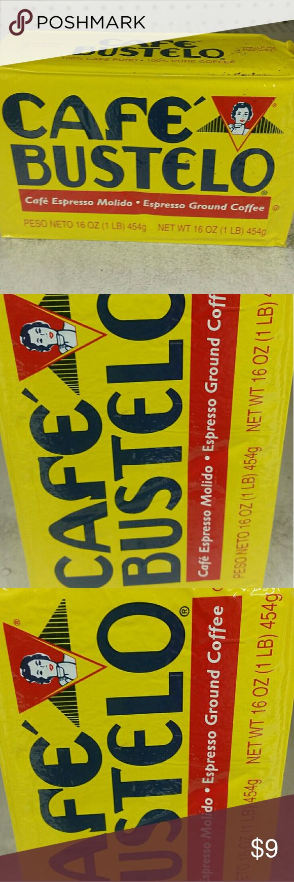 Cafe Bustelo Cuban Espresso Ground Coffee CAFE BUSTELO ESPRESSO GROUND COFFE 16 oz.  Cafe Bustelo is a Cuban style coffee, a rich , flavorful blend of the finest coffees in the world. Cafe Bustelo is a dark roast coffee specially roasted for Espresso. 100% Arabica coffee. Always fresh, pure and flavorful. Vacuum packed. 16 oz weight BUSTELO Other