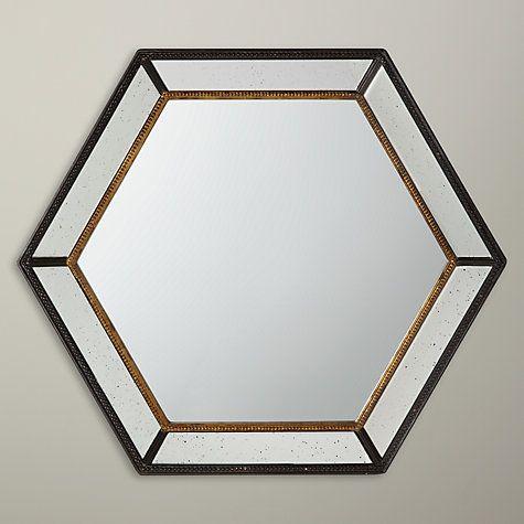 Buy John Lewis Antique Hexagonal Wall Mirror, 69 x 69cm Online at johnlewis.com