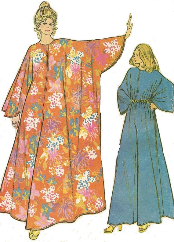 1970s Womens Caftan Jumpsuit McCalls Sewing Pattern 3479