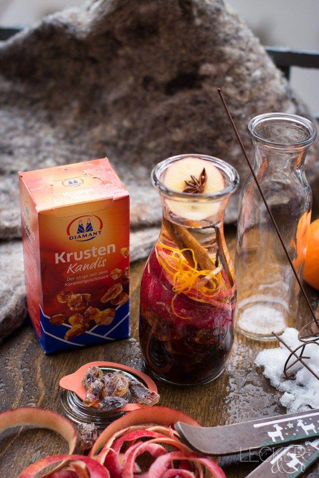 Hüttenlikör | Winterideen mit Kandis von Diamant Zucker - LECKER&Co | Foodblog | Foodfotografie und Foodstyling in Nürnberg
