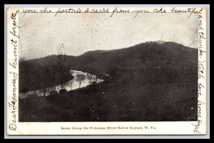 OLD KEYSER WEST VIRGINIA SCENE ALONG POTOMAC RIVER POSTCARD, UDB