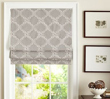 10 best images about kitchen window on pinterest flats for Fabric shades for kitchen windows