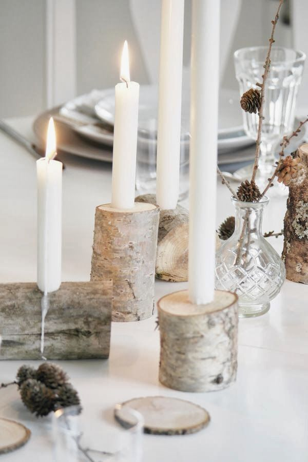 Simple Lovely Table Decorations <3 beautiful candle holders <3 classy wedding
