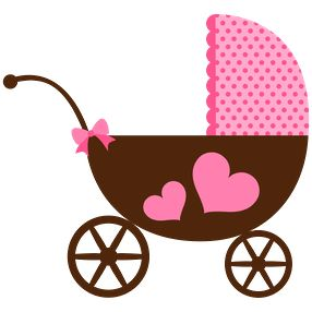 Dibujos. Clipart. Digi stamps - Baby Carriage - #Babyshower