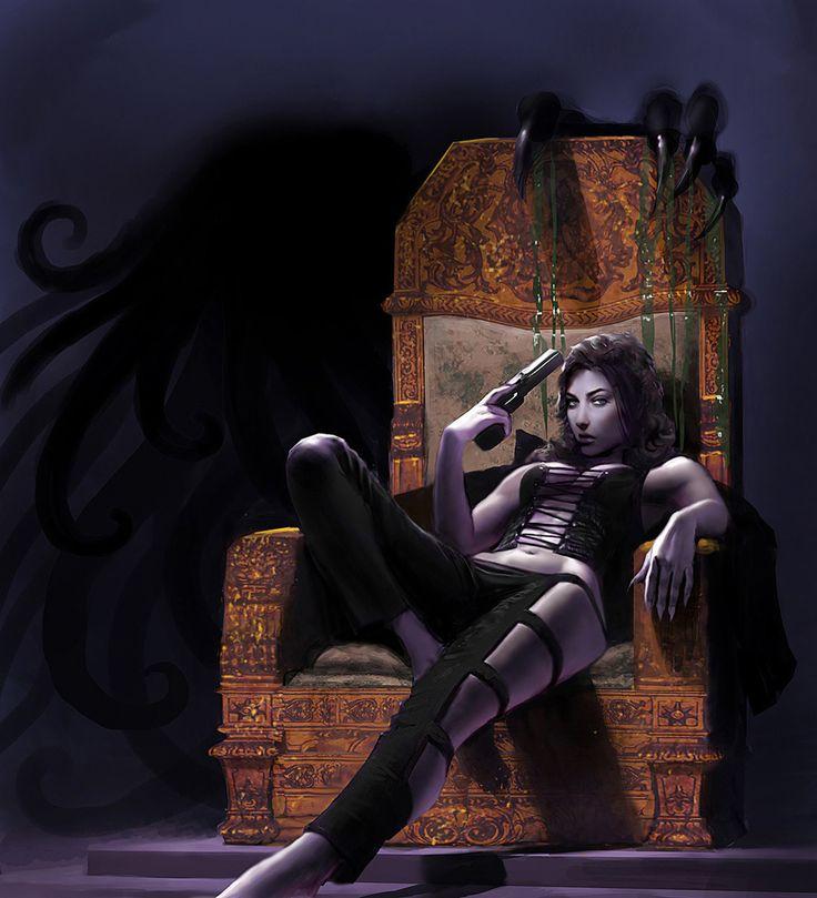 (via 2D Art: World of Darkness Vampire Ruler - 2D Digital, Concept art, Fantasy)