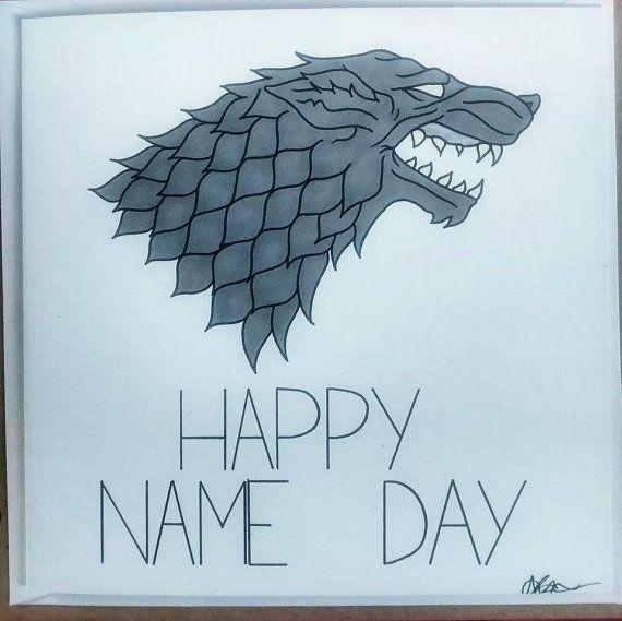 Game of Thrones birthday cards https://www.etsy.com/listing/198767552/game-of-thrones-stark-birthday-card