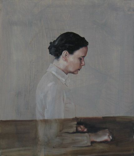 :: Michaël Borremans :: #portrait #painting #womanart #art   just love this