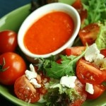 Need your vitamin C? Look no further, between fresh tomatoes and red bell pepper you're getting a huge helping of vitamin C with a this sweet and savory salad. Fresh goat cheese adds a note of creaminess without too much fat.