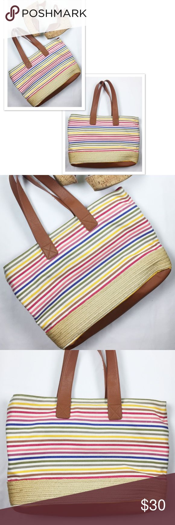 Aldo striped tote bag Aldo striped tote bag/purse in perfect condition. No rips, stains, or tears. Smoke free home and fast shipping Aldo Bags Totes