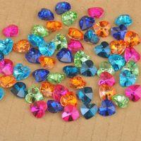 Jexxi быстро 100 шт. 10 мм 6228 смесь цветов Австрийского Хрусталя Кулон Сердце из бисера DIY ювелирные изделия ручной работы серьги выводы дизайн