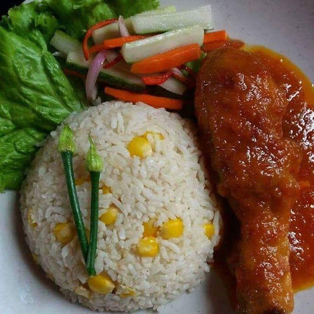Cara Penyediaan Nasi Jagung Berserta Lauk Resepi Nasi Jagung Ayam Masak Merah Jelatah Bahan Untuk Nasi Jagung Rice Food Grains