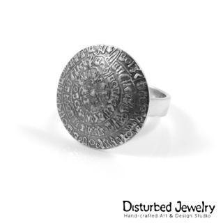 Custom ring - Phaistos Disk of Crete