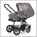 Racer GT with hard carrycot  Featherlight, yet super strong carrycot with solid frame offering full protection and allowing you to move your sleeping baby from the pushchair without disturbing it Convertible into a full footmuff (washable 30 degrees) Apron included to keep your baby protected Inc. washable mattress inlay (30 degrees) Inc. slashes for the use of harnesses Inc. pocket Padded mattress available (accessory) Item No. 4001 available in all Hartan designs