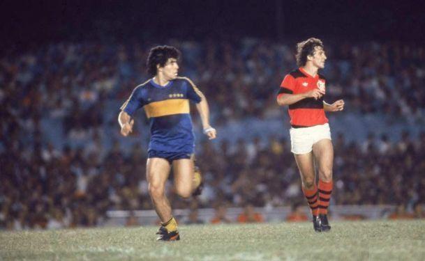 Boca - Flamengo, Maradona- Zico Flamengo 2x0 Boca Juniors (1981)