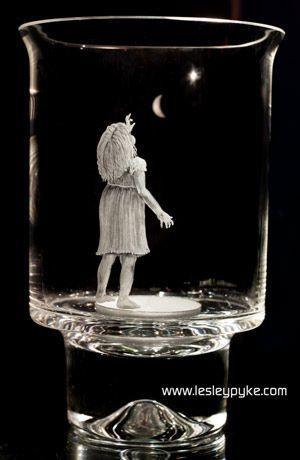 Crystal candle holder / hurricane lamp little gir…