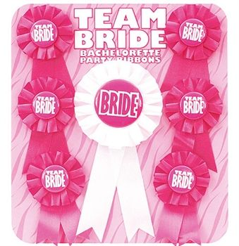 Show everyone you're a part of team bride with this set of 7 Team Bride Buttons. These are so cute and everyone will enjoy wearing them to the bachelorette party of bridal shower. #teambridebuttoms#teambrideparty#bacheloretteparty