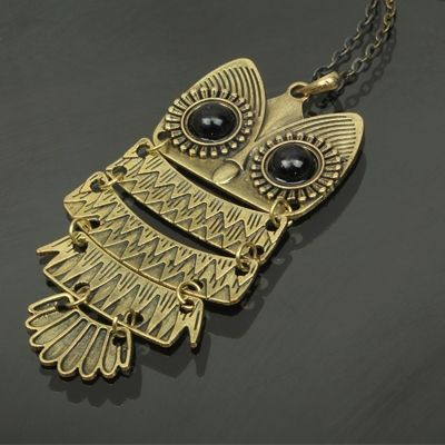 Stylish Owl Style Long Necklace