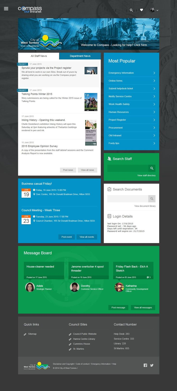 Sharepoint site design ideas -  Has Introduced A New Intranet For Its 300 Staff To Replace An Old Underperforming One The Intranet Includes A Simple Attractive And Modern Design