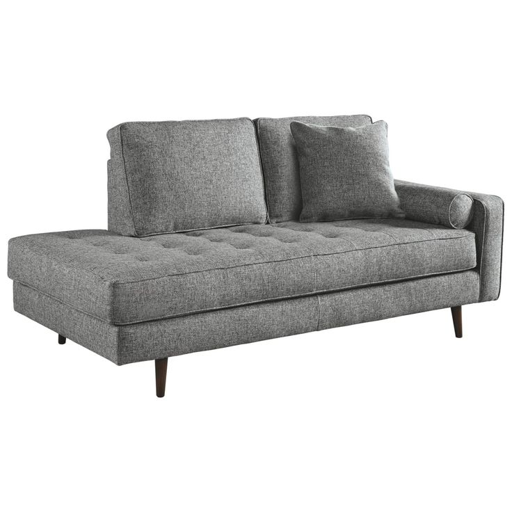 Zardoni Right Arm Facing Chaise Lounger Charcoal Gray