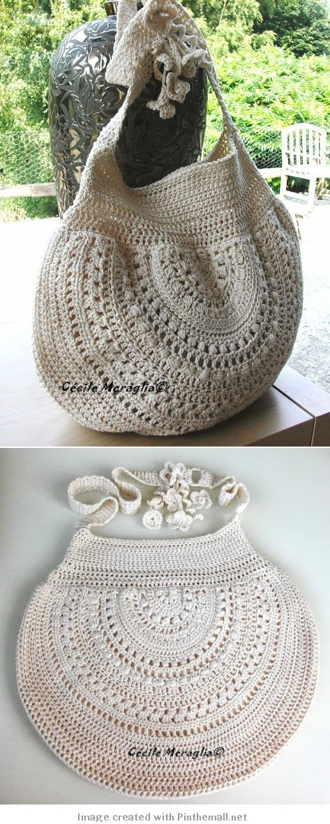 crochet - bag - like the half circle https://downfromthedoor.com/2015/07/05/keeping-crafty-a-crochet-purse/