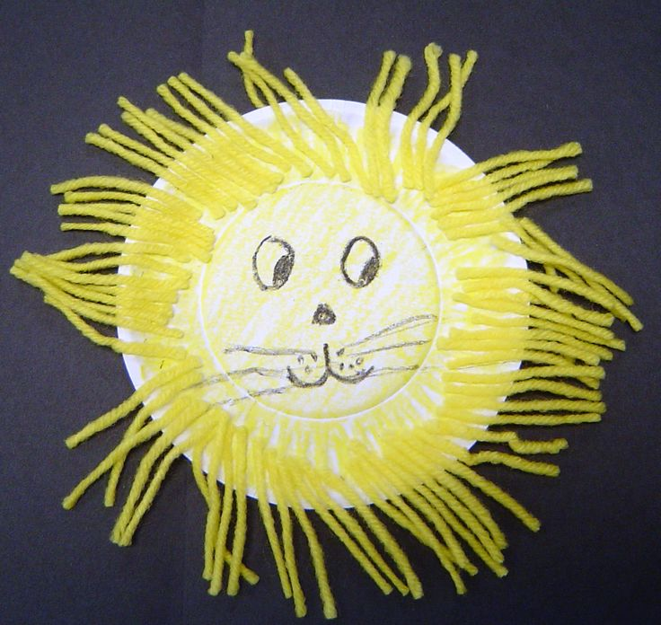 Paper plate Lion - could also do a Lamb with cotton balls for March.