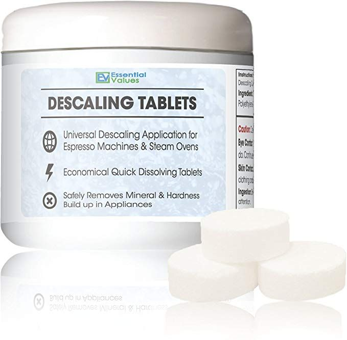 Descaling Tablets 12 Count Up To 12 Uses For Jura Miele Bosch Tassimo Espresso Machines And Miele Steam Ovens By Essential Values Review Espresso Machines Steam Oven