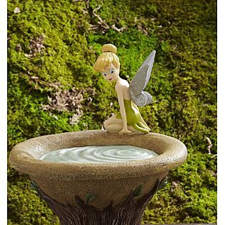 Delightful Disney 16in Tinkerbell Bird Bath #decor #patio #garden #disney