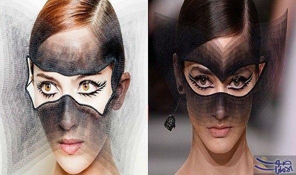 مكياج العيون السريالي يبرز تصميمات عرض ديور هوت كوتور خطف عرض ديور للهوت كوتور Dior Haute Couture الأنظار في ال Halloween Face Halloween Face Makeup Face