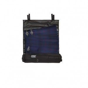 Black Kilt Roll Bag Ideal for Travelling . . Sold by TartanPlusTweed.com A family owned kilt and gift shop in the Scottish Borders