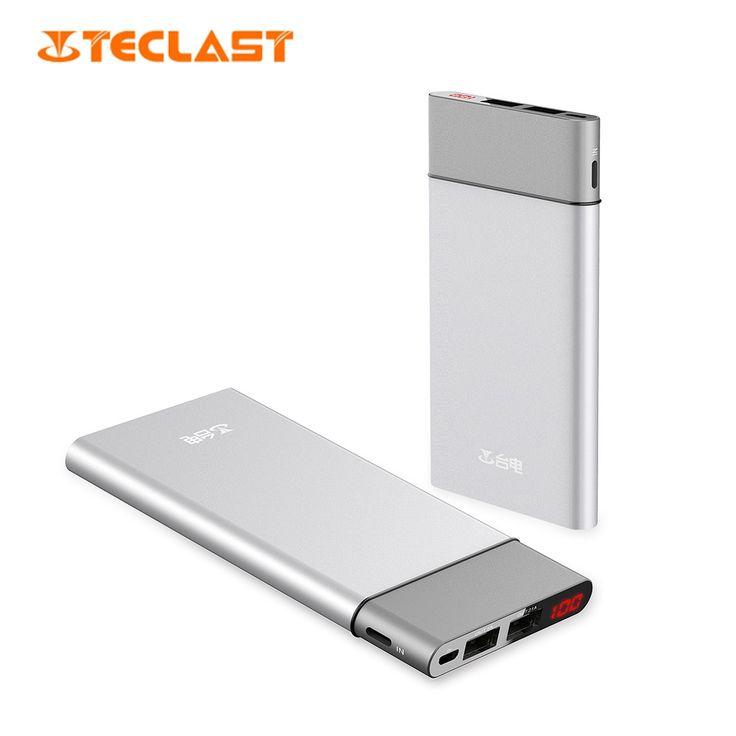 Teclast T100UC - S 10000mAh Power Bank 8 Pin and Micro USB Dual Input Intelligent Digital Display
