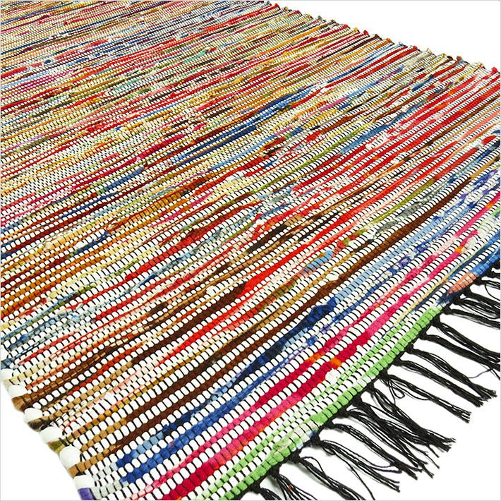 3 X 5 ft WHITE COLORFUL WOVEN CHINDI RAG RUG Indian Bohemian Boho Decor #EyesofIndia #RagRug #Rug