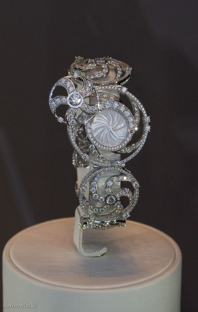 Parisian jewelry label Leon Hatot diamond watch.