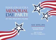 memorial day invitations printable