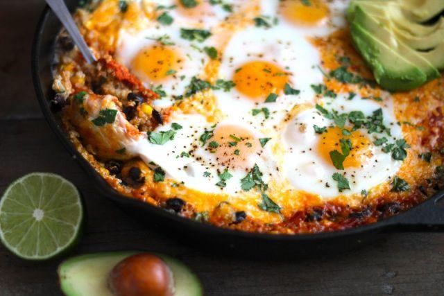 Quinoa & Egg Enchilada Skillet