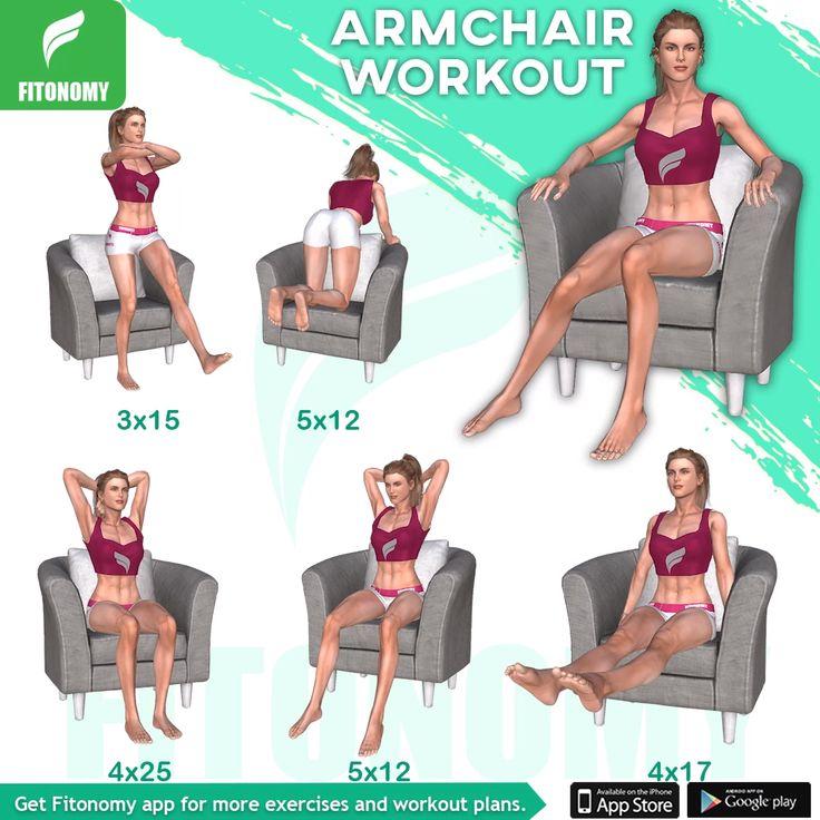 Armchair Workout #fitonomy #fitonomyapp #armworkout #arm # ...