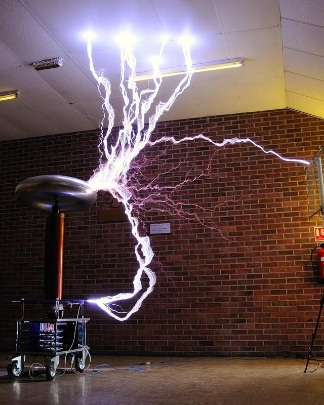 "Alternative Energy - ""Tesla Coils"" are very popular devices among certain electrical engineers and electronics enthusiasts. Builders of Tesla coils as a hobby are called ""coilers"". Tesla claimed to have developed a way to transmit electricity through the earth and though the atmosphere using his coils. He wanted to provide for free energy for the public. What happened to that idea?"
