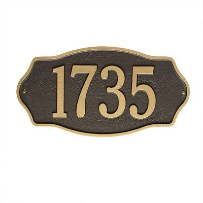 Found it at Wayfair - Hampshire Wall 1 Line Address Plaque