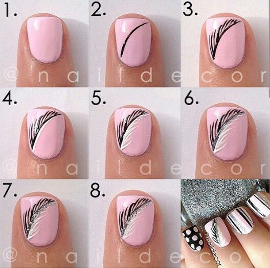 Feather nails. Credit to @Manal Shaikh on instaaa.