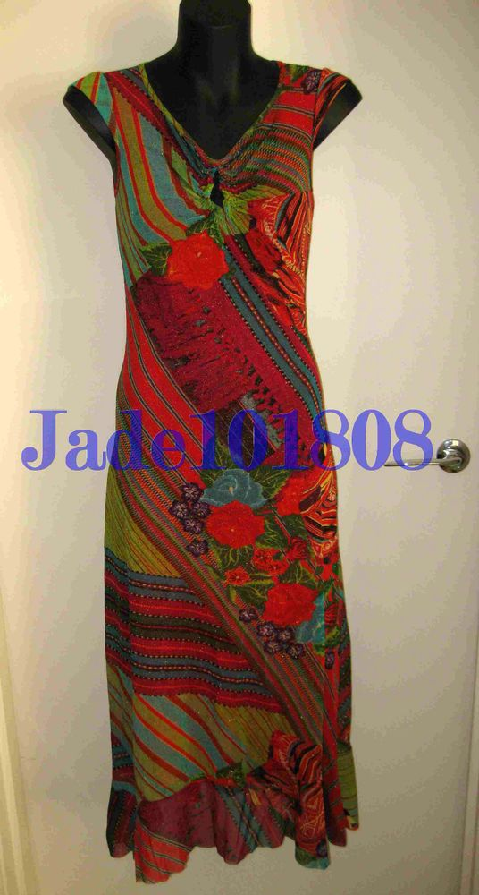 $989 NWT AUTH. KENZO JEANS red sparkle DRESS gown skirt tunic top 40 XS S 6 8 10
