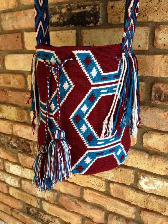 Handmade Large MultiColored Wayuu Mochila from by TheBuenaOnda, $158.00