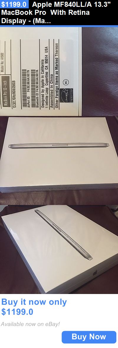 general for sale: Apple Mf840ll/A 13.3 Macbook Pro With Retina Display - (March, 2015)New Sealed BUY IT NOW ONLY: $1199.0